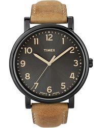 Timex - Tan And Black Easy Reader - Lyst