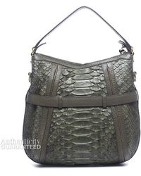 Gucci Preowned Green Python Medium Running Hobo Bag - Lyst