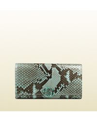 Gucci Gg Sparkling Python Continental Wallet - Lyst