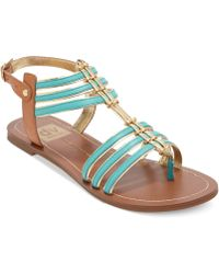 Dolce Vita Dv By Dustin Flat Sandals - Lyst