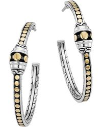 John Hardy Dot Hoop Earrings - Lyst