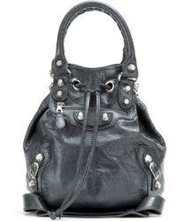 Balenciaga Giant Mini Pompon Leather Shoulder Bag - Lyst