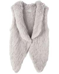 Yves Salomon - Sleeveless Fur Jacket - Lyst