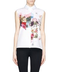 Preen Mana Floral Collage Print Sleeveless Shirt - Lyst