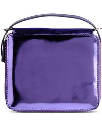 Marques'Almeida Small Leather Bag purple - Lyst