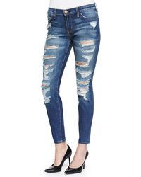 Current/Elliott The Stiletto Skinny Cropped Jeans - Lyst