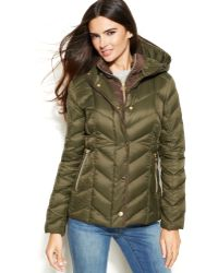 Michael Kors Michael Hooded Quilted Down Packable Puffer Coat - Lyst