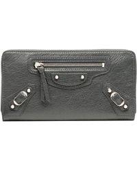 Balenciaga | Classic Silver Continental Zip Around | Lyst