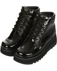 Topshop Kick Work Shoes by Kickers - Lyst