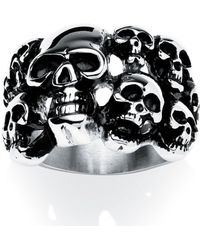 Palmbeach Jewelry - Men's Skulls Ring In Stainless Steel - Lyst