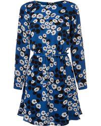 Oasis Daisy Shadow Long Sleeve Skater Dress - Lyst