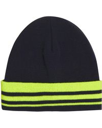 Topshop Striped Turn Up Beanie - Lyst