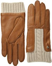 Ugg Alexis Glove with Cable Knit Trim - Lyst