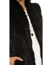 June - Knit Fur Vest - Grey - Lyst