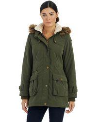 DKNY Green Anorak Jacket - Lyst