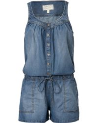 Current/Elliott Jumpsuit in Denim - Lyst