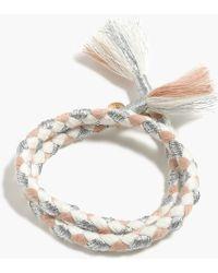 J.Crew Metallic Wrap Bracelet - Lyst