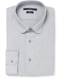 Gucci Blue Slimfit Cotton and Cashmereblend Shirt - Lyst