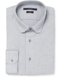 Gucci Blue Slimfit Cotton and Cashmereblend Shirt - Lyst