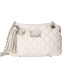 Calvin Klein Quilted Leather Tassel Crossbody - Lyst