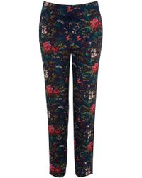 Oasis Tropical Forest Soft Print Trouser - Lyst
