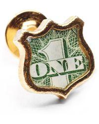 Lulu Frost G. Frost Bullet Shield Pin - Brass gold - Lyst