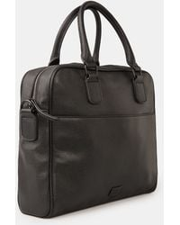 Mango - External Pocket Pebbled Briefcase - Lyst