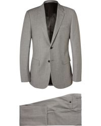 Balenciaga - Grey Slim-Fit Flecked Wool-Blend Suit - Lyst