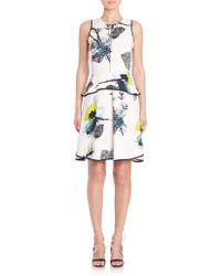 Proenza Schouler | Printed Peplum Dress | Lyst