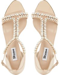 Dune - Melodee Embellished Leather Sandals - Lyst
