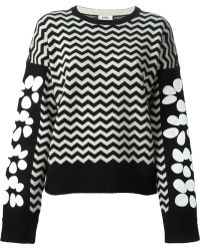 Issa Flowers and Zig Zag Jacquard Sweater - Lyst
