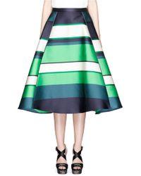 Lanvin   Colourblock Stripe Duchesse Satin Flare Skirt   Lyst