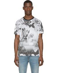 Diesel Grey Skull T_Setei T_Shirt gray - Lyst