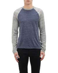 James Perse Raglan Sleeve T-Shirt - Lyst