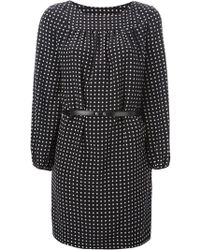 Saint Laurent Polkadot Dress - Lyst