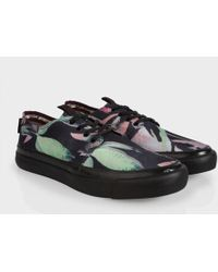 Paul Smith Botanical Print Nylon-Twill 'Libre' Trainers - Lyst