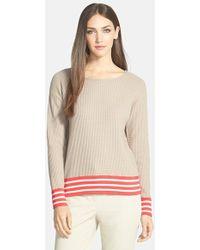 Lafayette 148 New York Waffle Stitch Cotton Sweater - Lyst