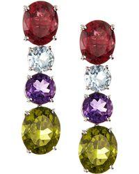Asprey Multicolor Gem Chaos Drop Earrings - Lyst