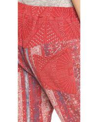 Preen Line - Sweatshirt Trousers - Red Block Print - Lyst