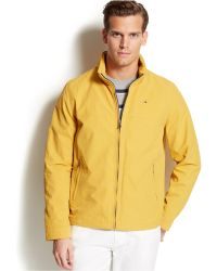 Tommy Hilfiger Hooded Solid Nylon Coat - Lyst