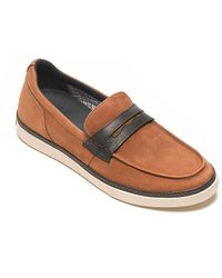 Tommy Hilfiger Leather Slip On Shoe - Lyst