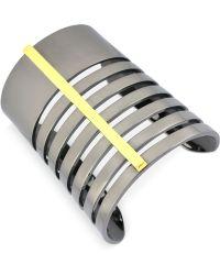 Vince Camuto - Twotone Large Bar Cuff Bracelet - Lyst