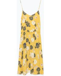 Zara Printed Dress - Lyst