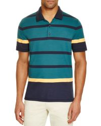 AG Green Label - Esquire Striped Polo - Lyst