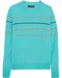 Jonathan Saunders Jaspar Striped Merino Wool Sweater - Lyst
