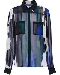 WHIT | Jagger Jagged Striped Shirt | Lyst