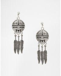 ASOS | Triple Feather Catcher Earrings | Lyst