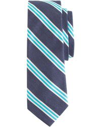 J.Crew Cotton Repp Tie in Navy Stripe - Lyst