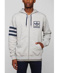 Adidas Trefoil Fullzip Hoodie Sweatshirt - Lyst