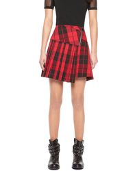 DKNY Pleated Mini Skirt - Lyst